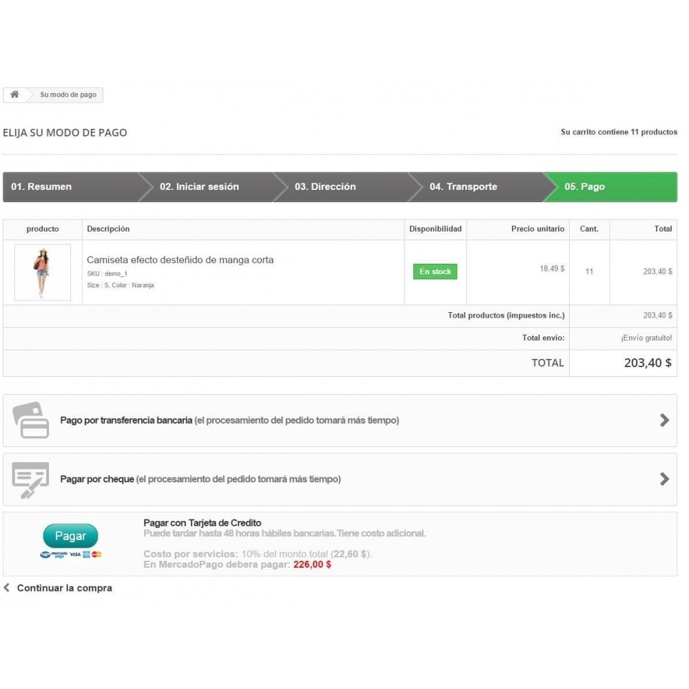 module - Payment by Card or Wallet - MercadoPago Chile Pro - 4