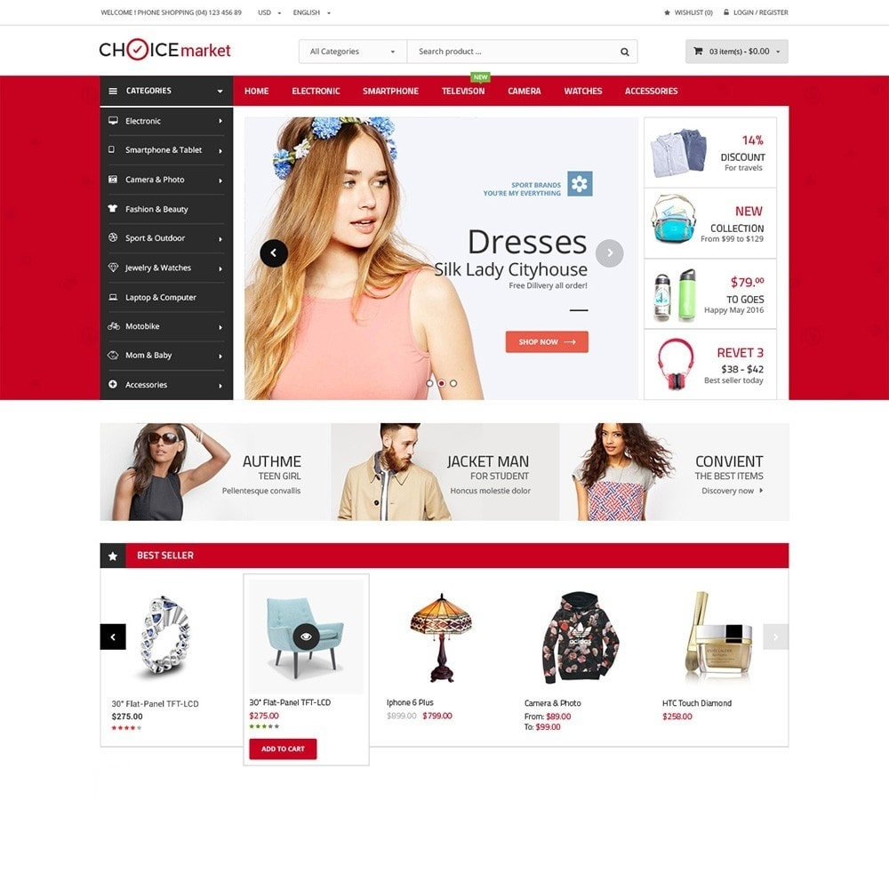 theme - Электроника и компьютеры - ChoiceMarket - High Tech Responsive - 2