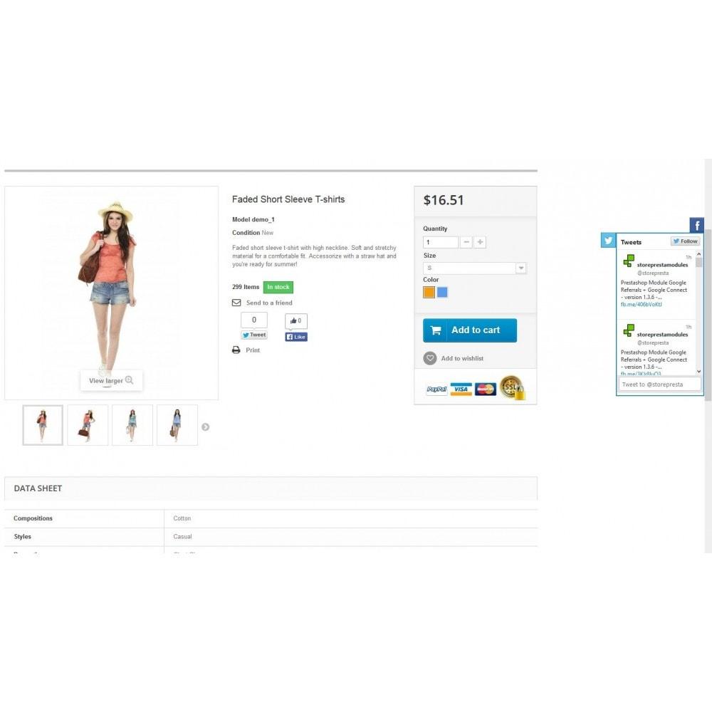 module - Widgets para redes sociales - Social Widgets (2 in 1) - 2
