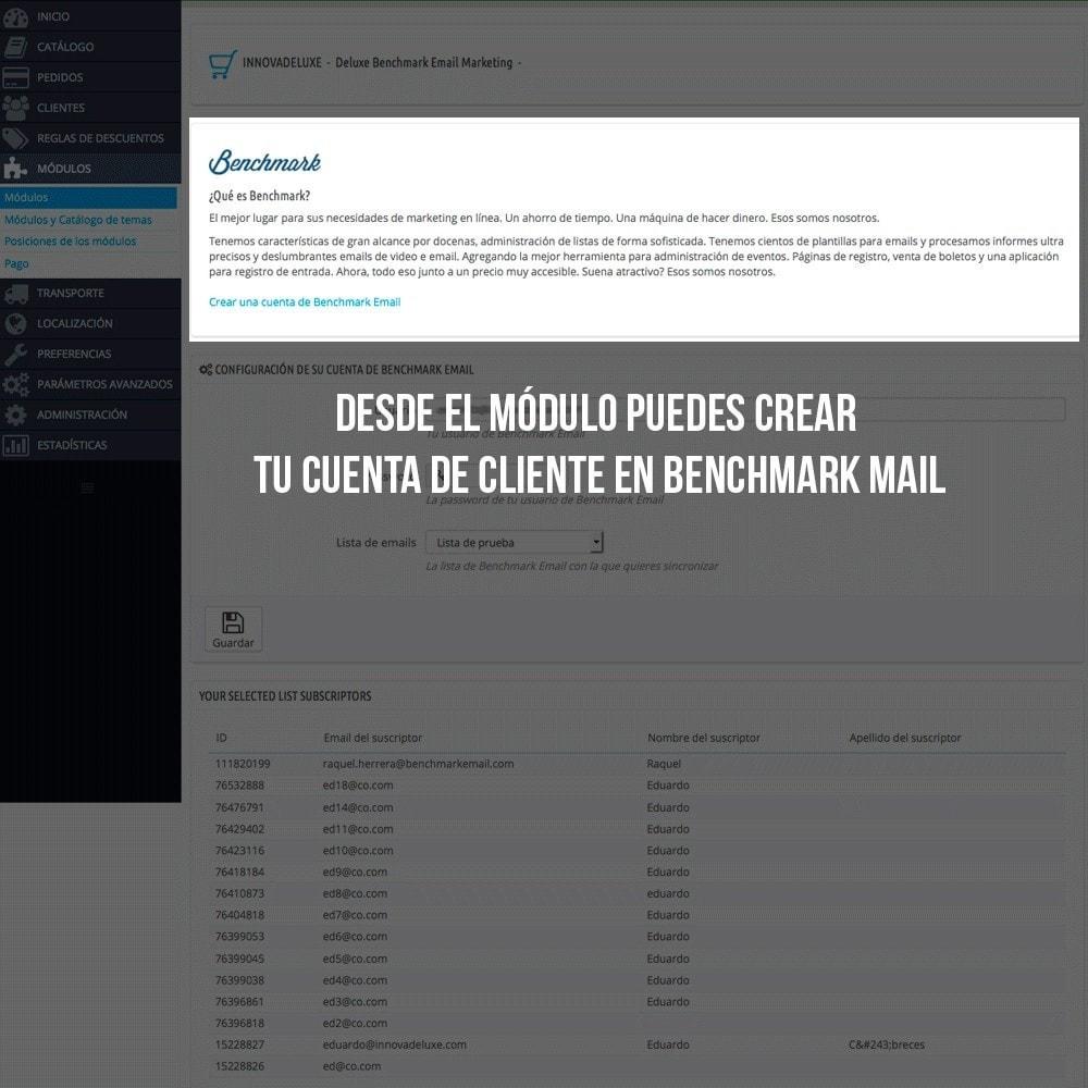 module - E-mails y Notificaciones - Integración con Benchmark Email Marketing - 3
