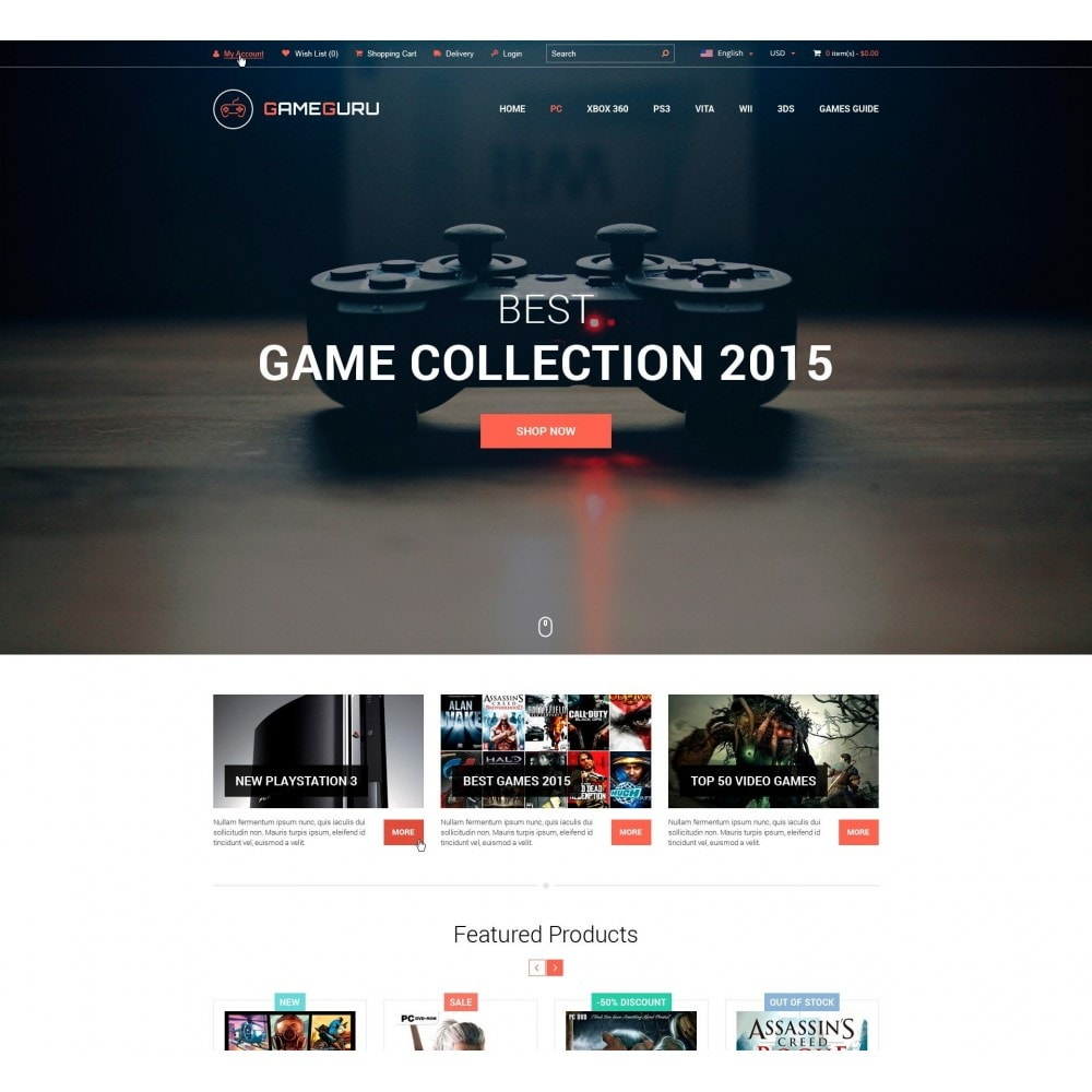 theme - Elektronika & High Tech - GameGuru - Graj w Gry Sklep - 2