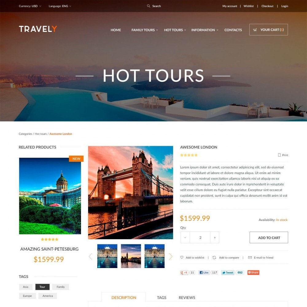 theme - Sport, Attività & Viaggi - Travely - Negozio di Viaggio - 4