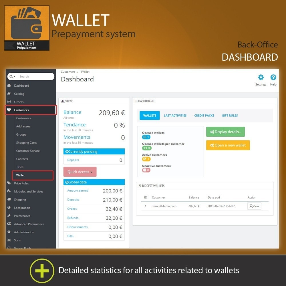 module - Creditcardbetaling of Walletbetaling - Wallet - Prepayment with cash back system - 1