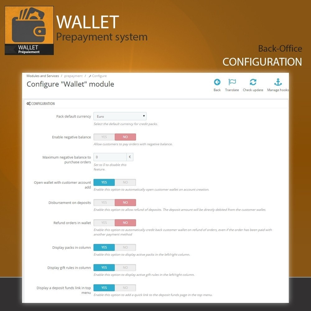module - Creditcardbetaling of Walletbetaling - Wallet - Prepayment with cash back system - 2