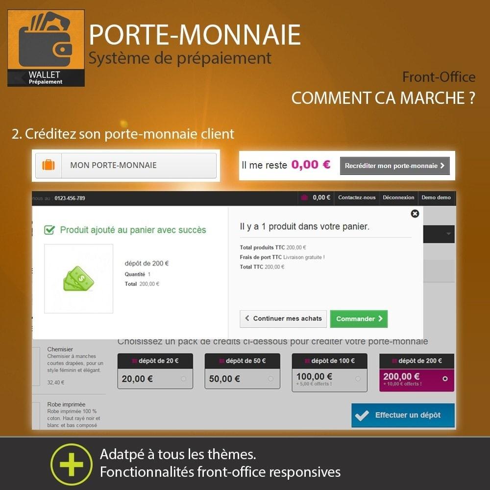 module - Paiement par Carte ou Wallet - Porte-monnaie - Prépaiement avec sytème de cash back - 4