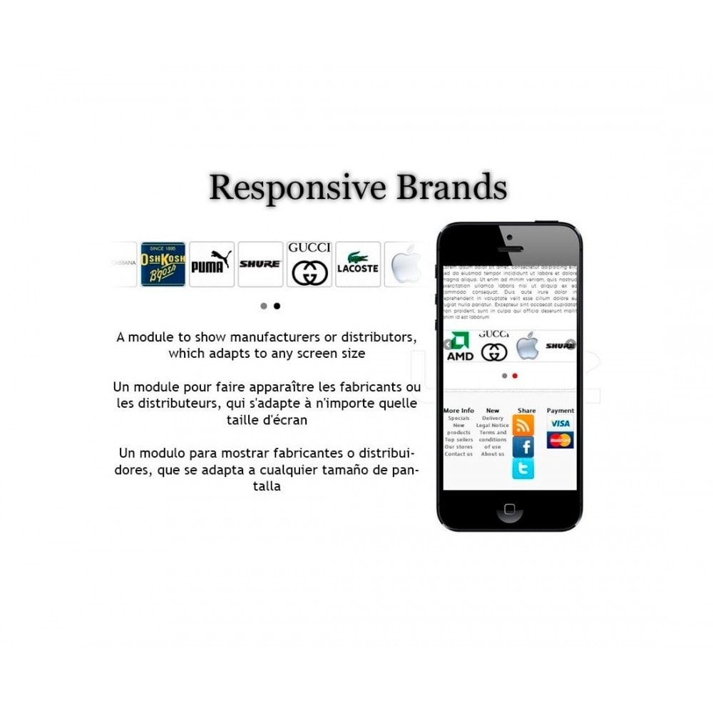 module - Marques & Fabricants - Slider of Responsive Brands / Suppliers - 1