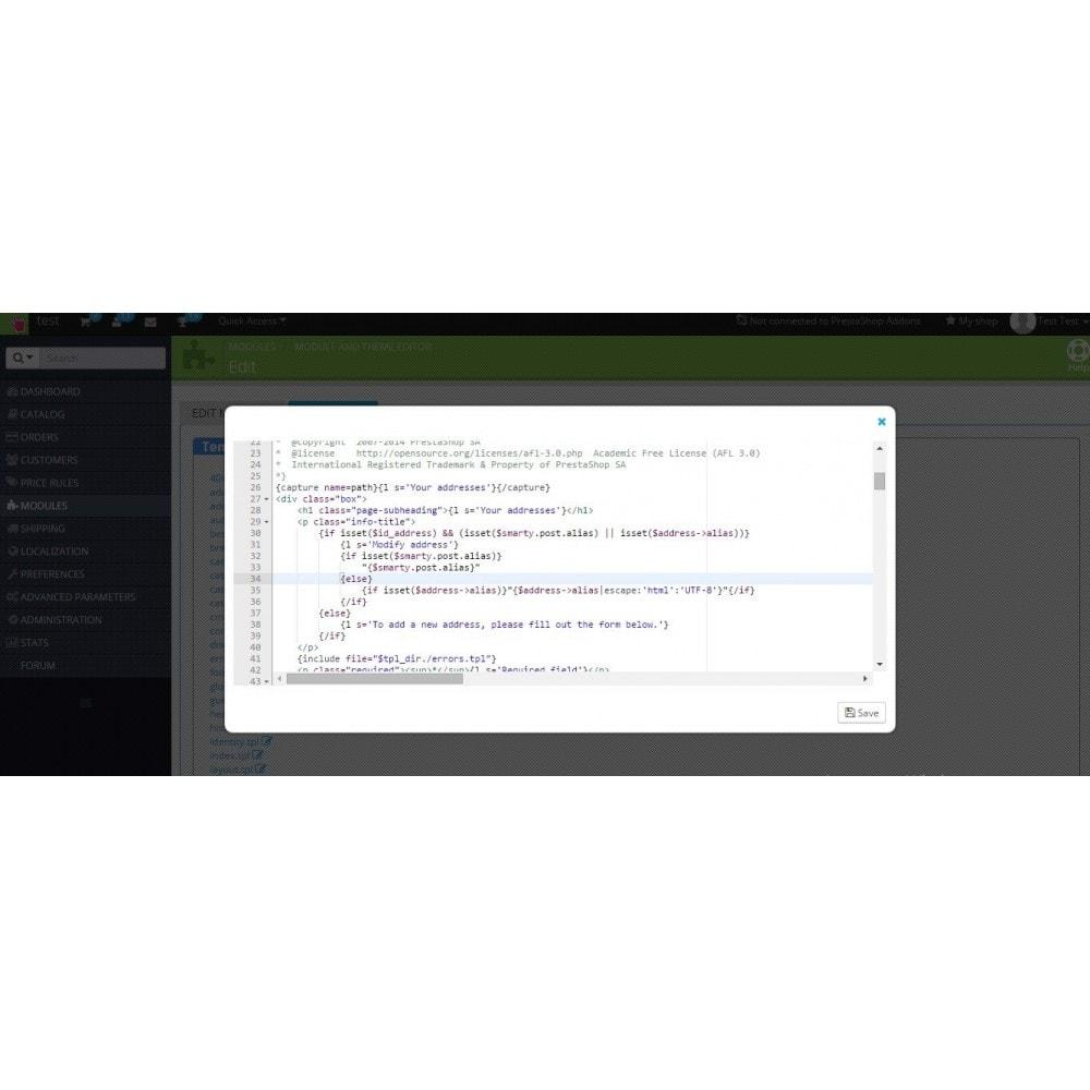 module - Адаптация страницы - Редактирование модулей и темы - 3