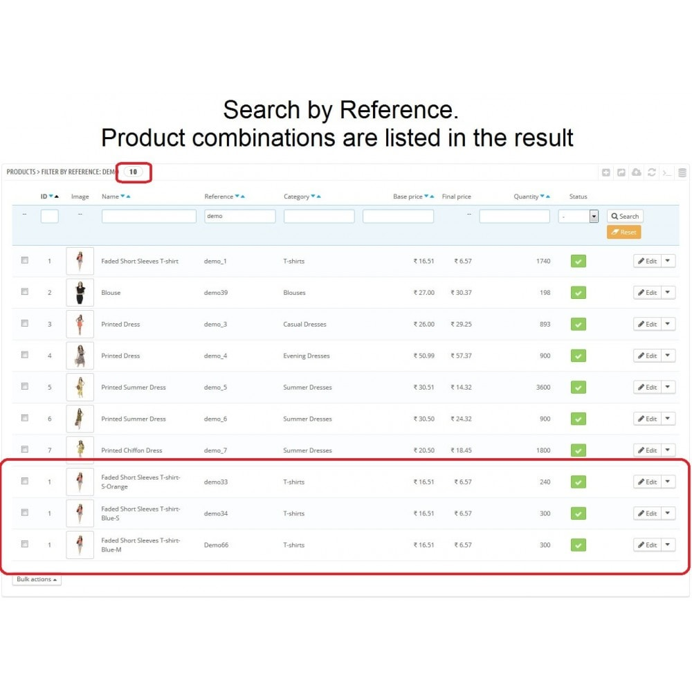 module - Ferramentas de Administração - Admin Search Product Combinations by Reference - 3