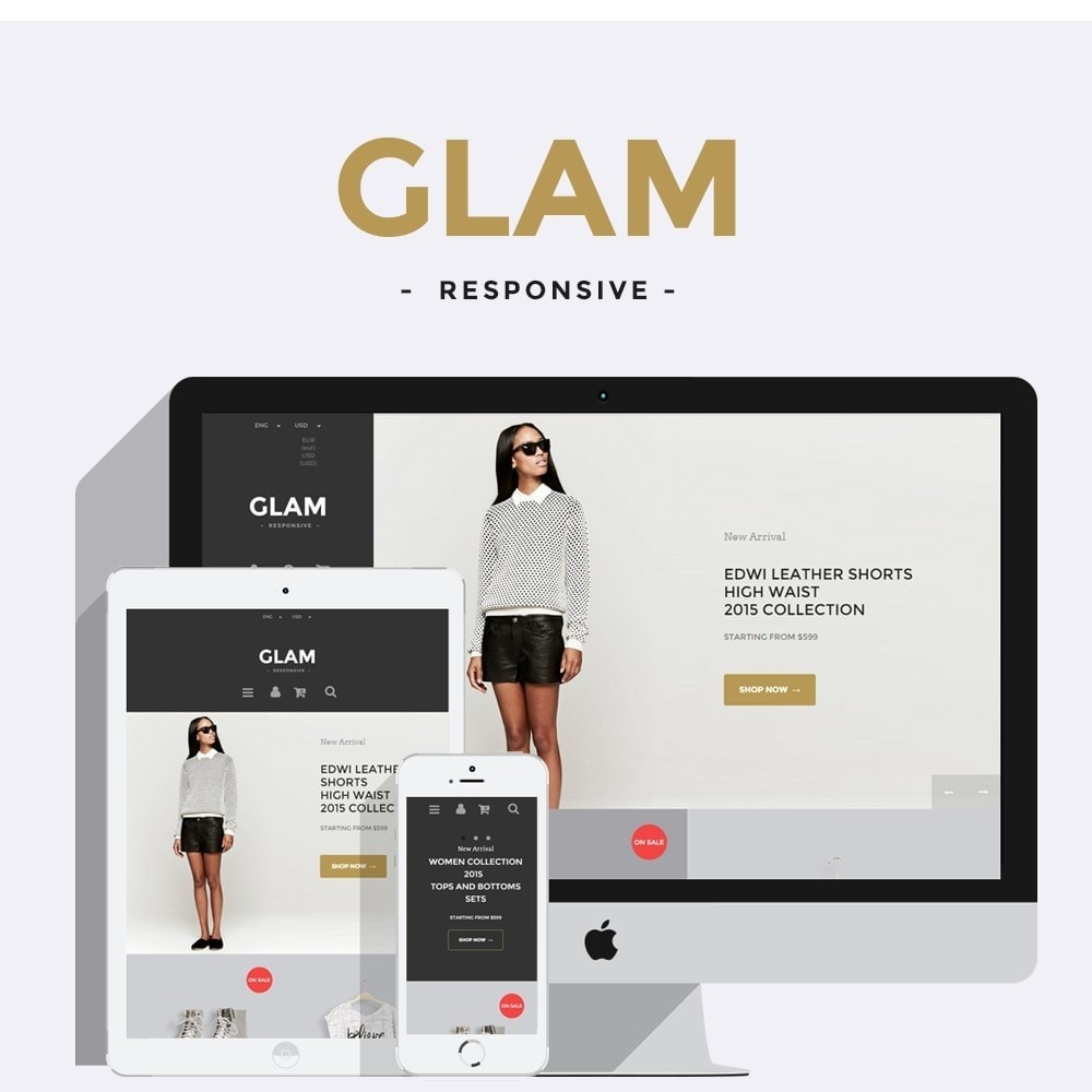 theme - Mode & Schuhe - Glam Prestashop 1.6 Responsive Template - 1