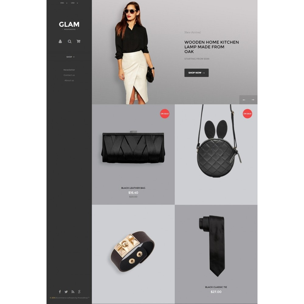 theme - Fashion & Shoes - Glam Prestashop 1.6 Responsive Template - 2
