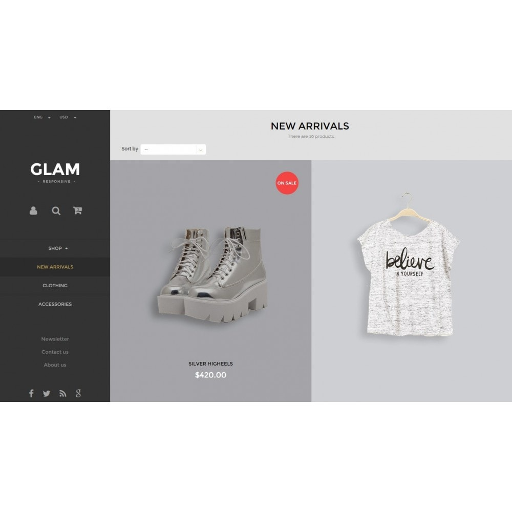 theme - Mode & Schuhe - Glam Prestashop 1.6 Responsive Template - 9