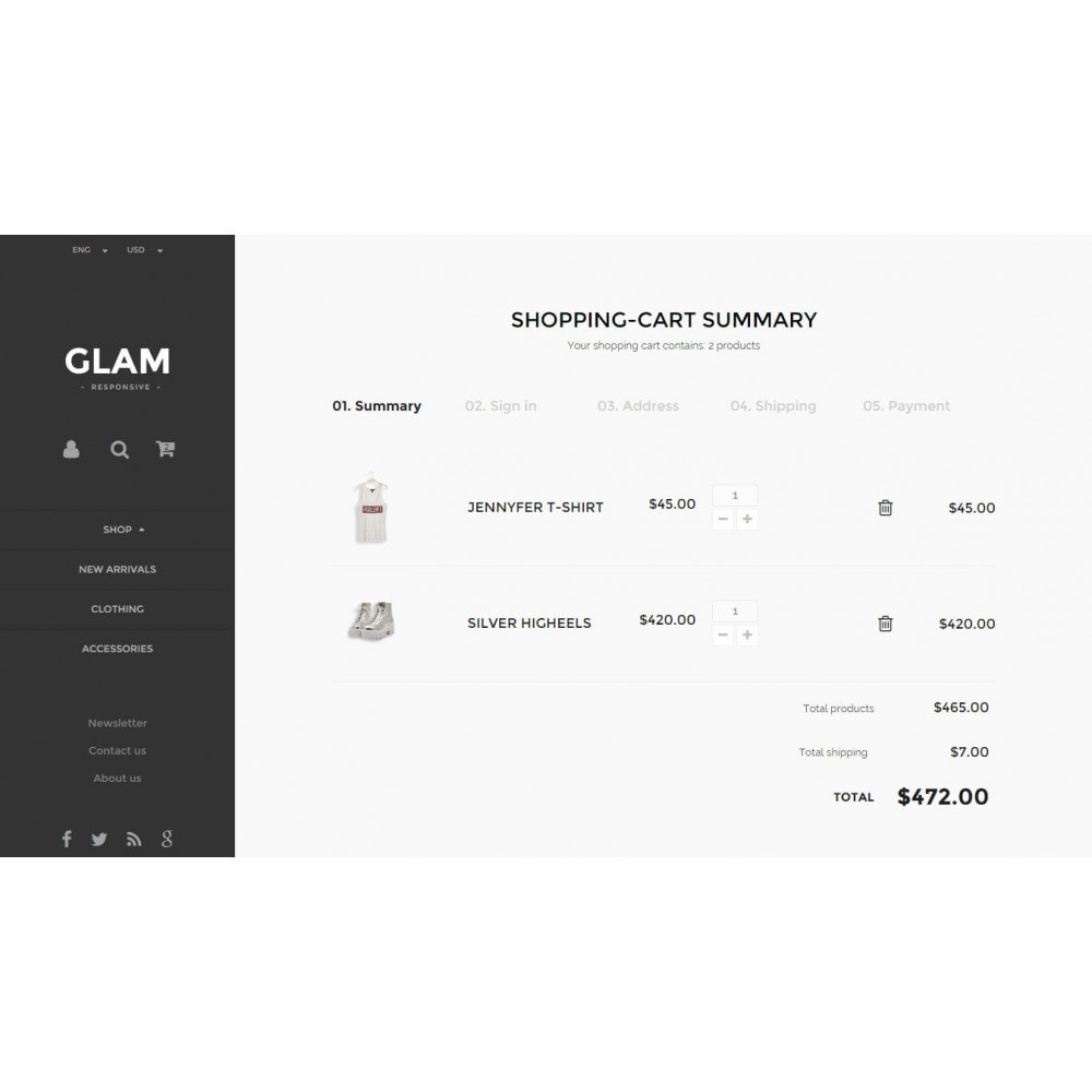 theme - Mode & Schoenen - Glam Prestashop 1.6 Responsive Template - 10