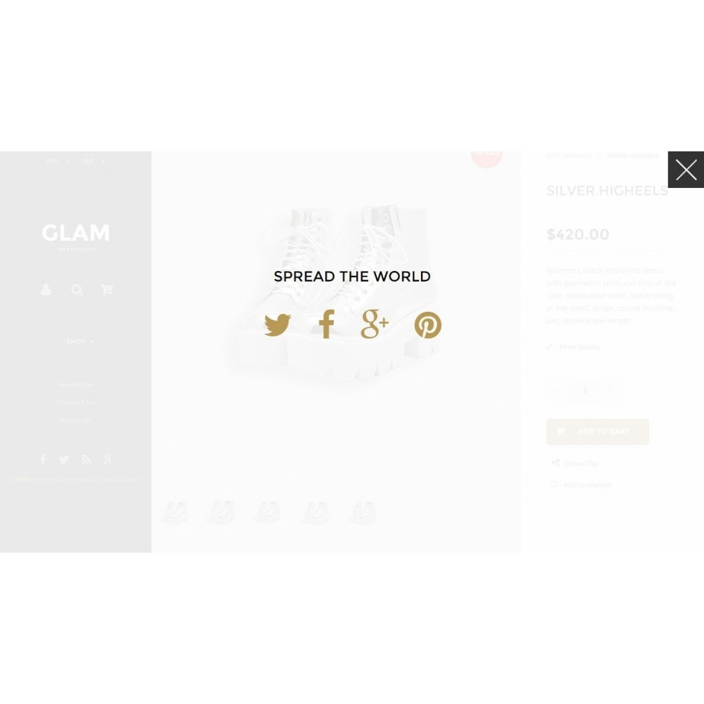 theme - Mode & Schoenen - Glam Prestashop 1.6 Responsive Template - 15