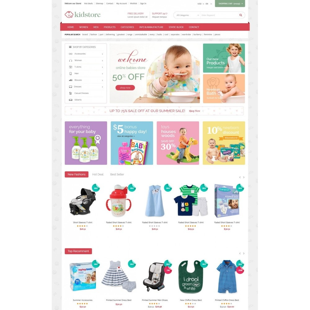 theme - Kids & Toys - Kidstore - Kids & Children Store Responsive PrestaShop - 2