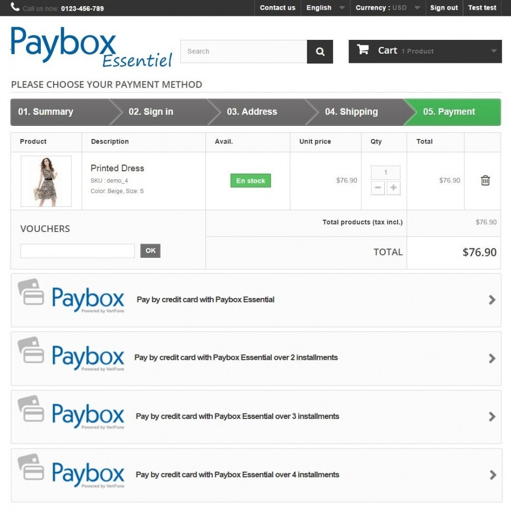 module - Creditcardbetaling of Walletbetaling - Verifone E-commerce (Paybox Essential) - 1.5, 1.6 & 1.7 - 3