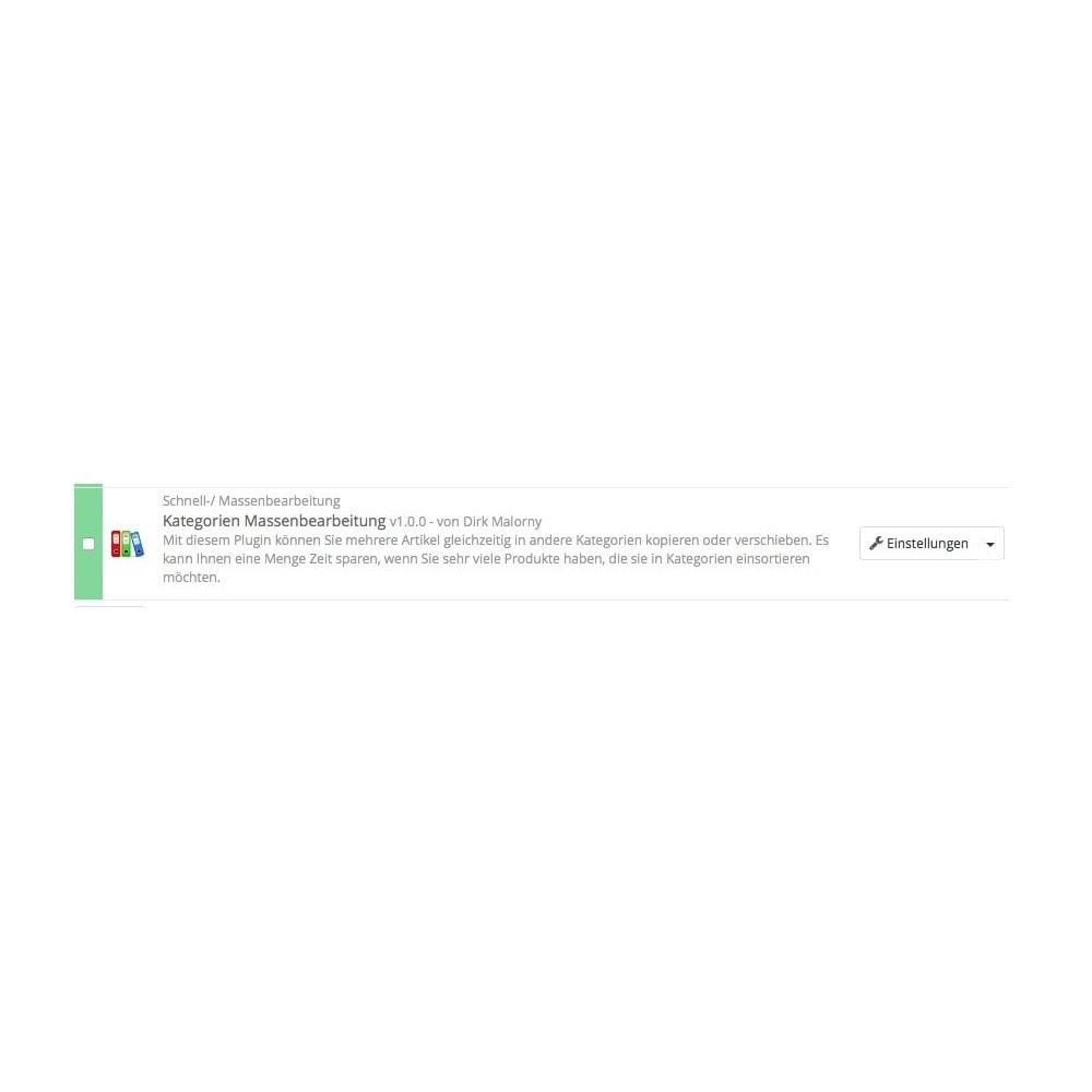 module - Quick Eingabe & Massendatenverwaltung - Kategorien Massenbearbeitung - 1