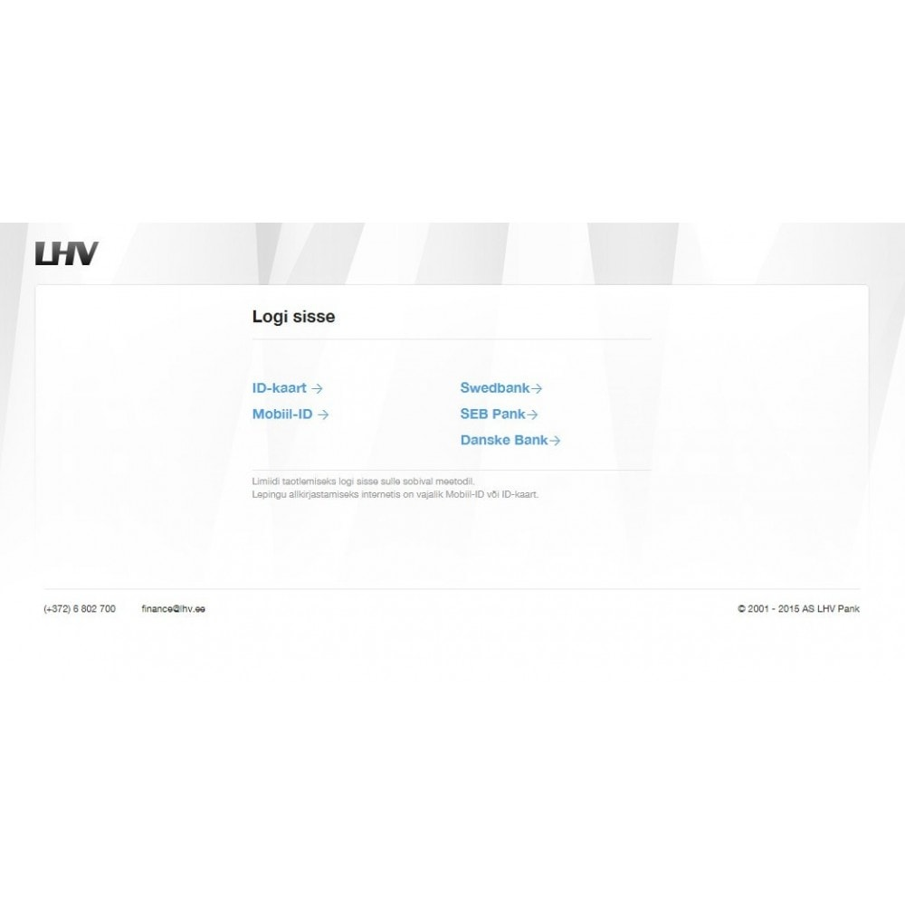 module - Payment by Card or Wallet - LHV Leasing - 2