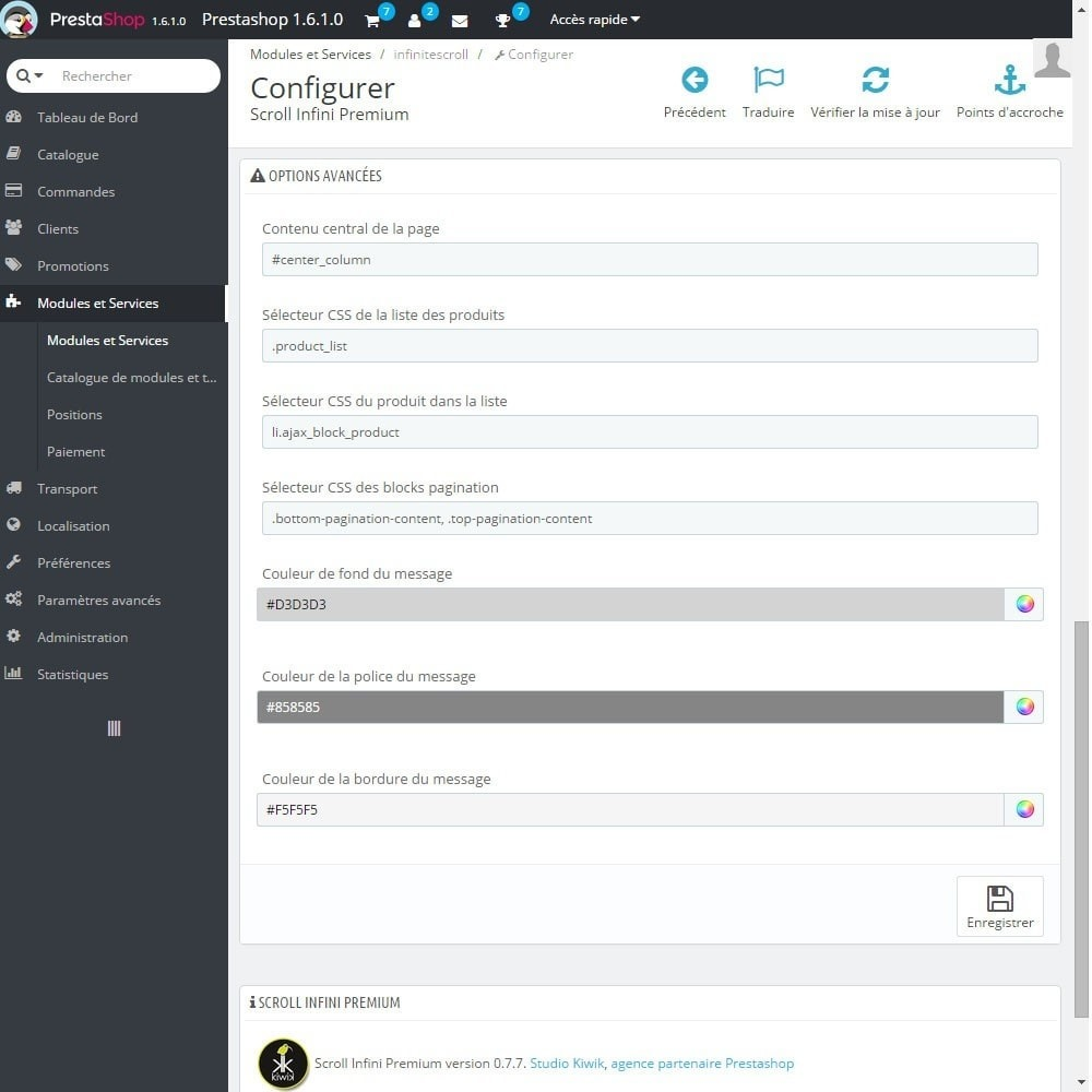 module - Outils de navigation - Scroll Infini Premium - 4