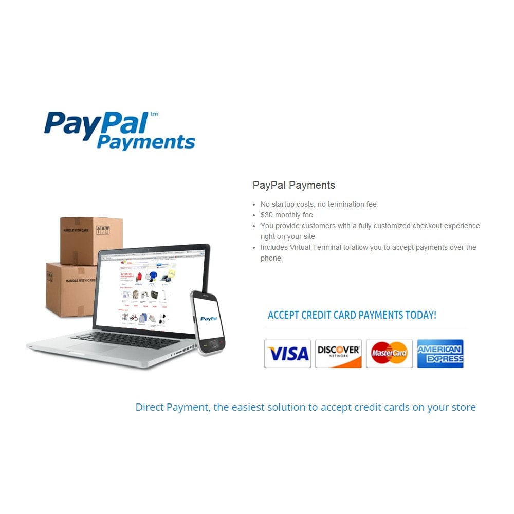 module - Paiement par Carte ou Wallet - PayPal Direct Payments - 2