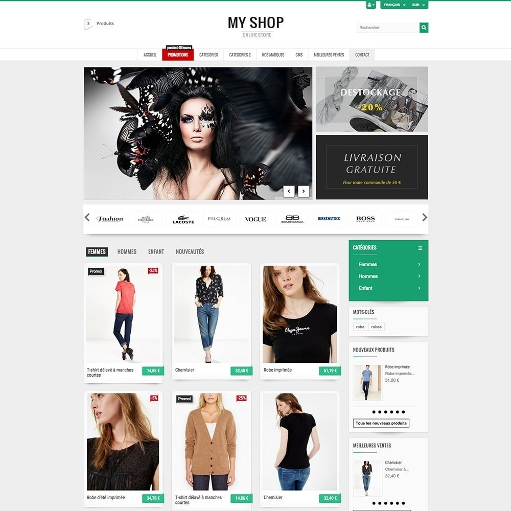 theme - Mode & Chaussures - MY SHOP - 3