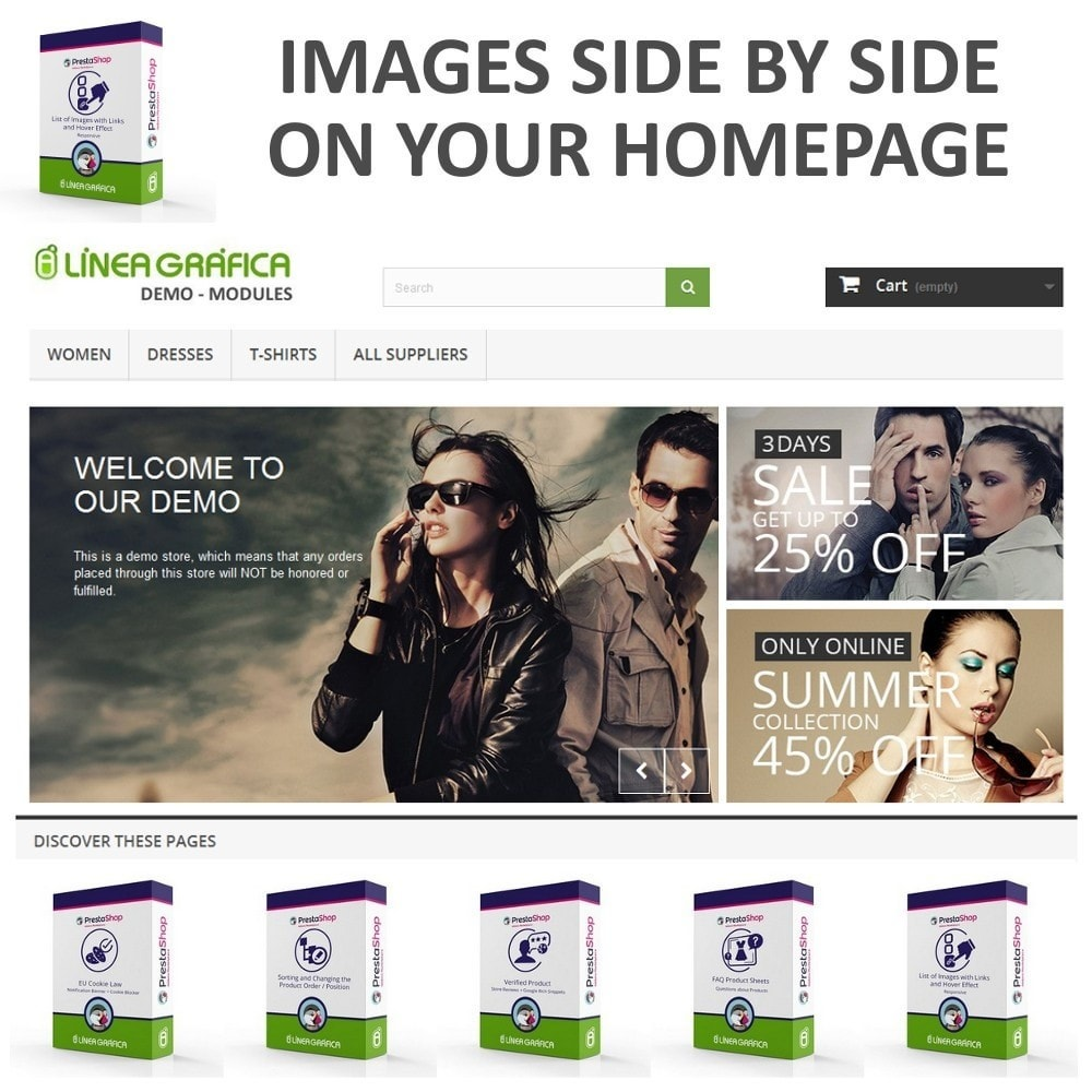 module - Blocchi, Schede & Banner - Block of Images with Rollover Effect - Responsive - 2