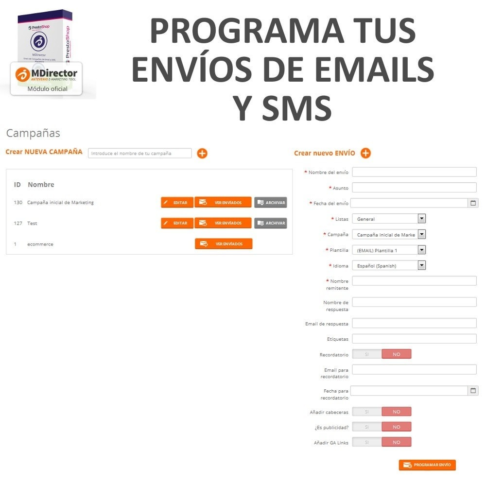 module - Newsletter y SMS - MDirector - Envío de Campañas de Email y SMS Marketing - 7