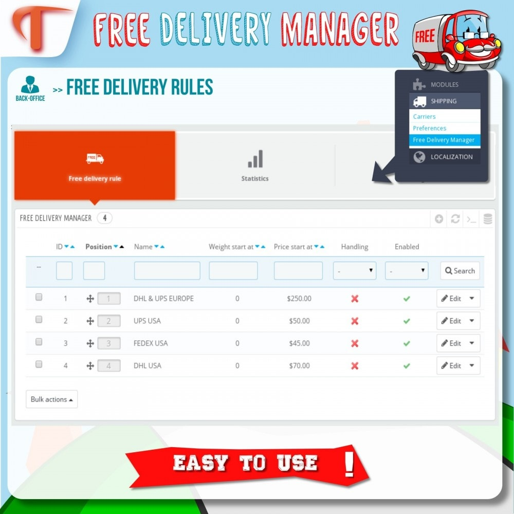 module - Shipping Costs - Free Delivery Manager - 3