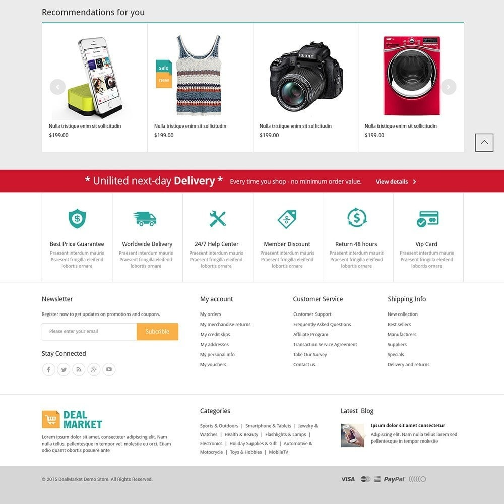 DealMarket- Fashion Store Responsive PrestaShop Theme