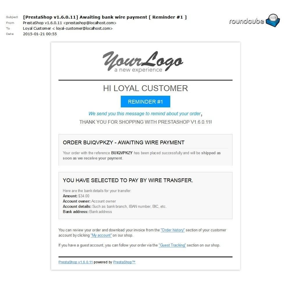 module - Andere Zahlungsmethoden - Unpaid Order Reminder - 5