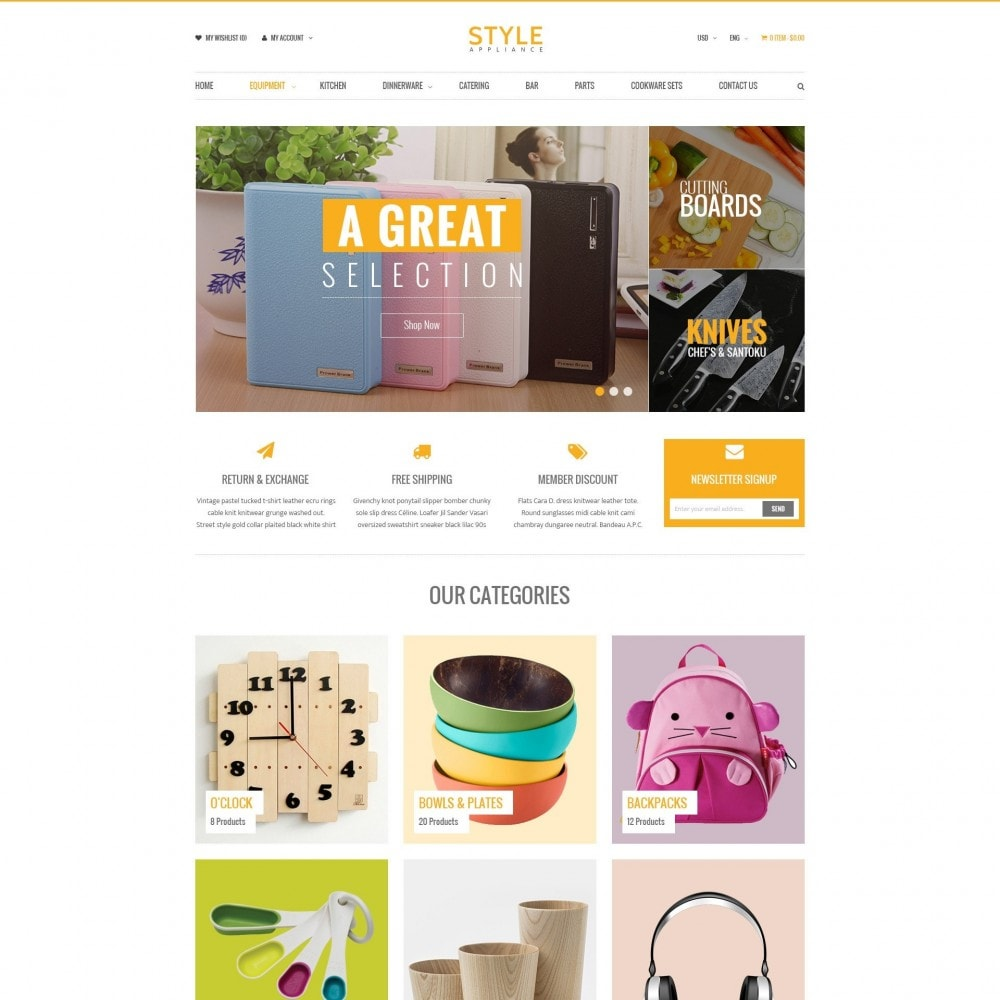 theme - Dom & Ogród - Kitchen & Home Appliances Responsive PrestaShop Theme - 1