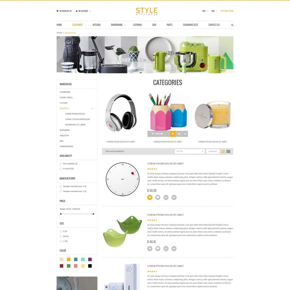 Kitchen & Home Appliances Responsive PrestaShop Theme
