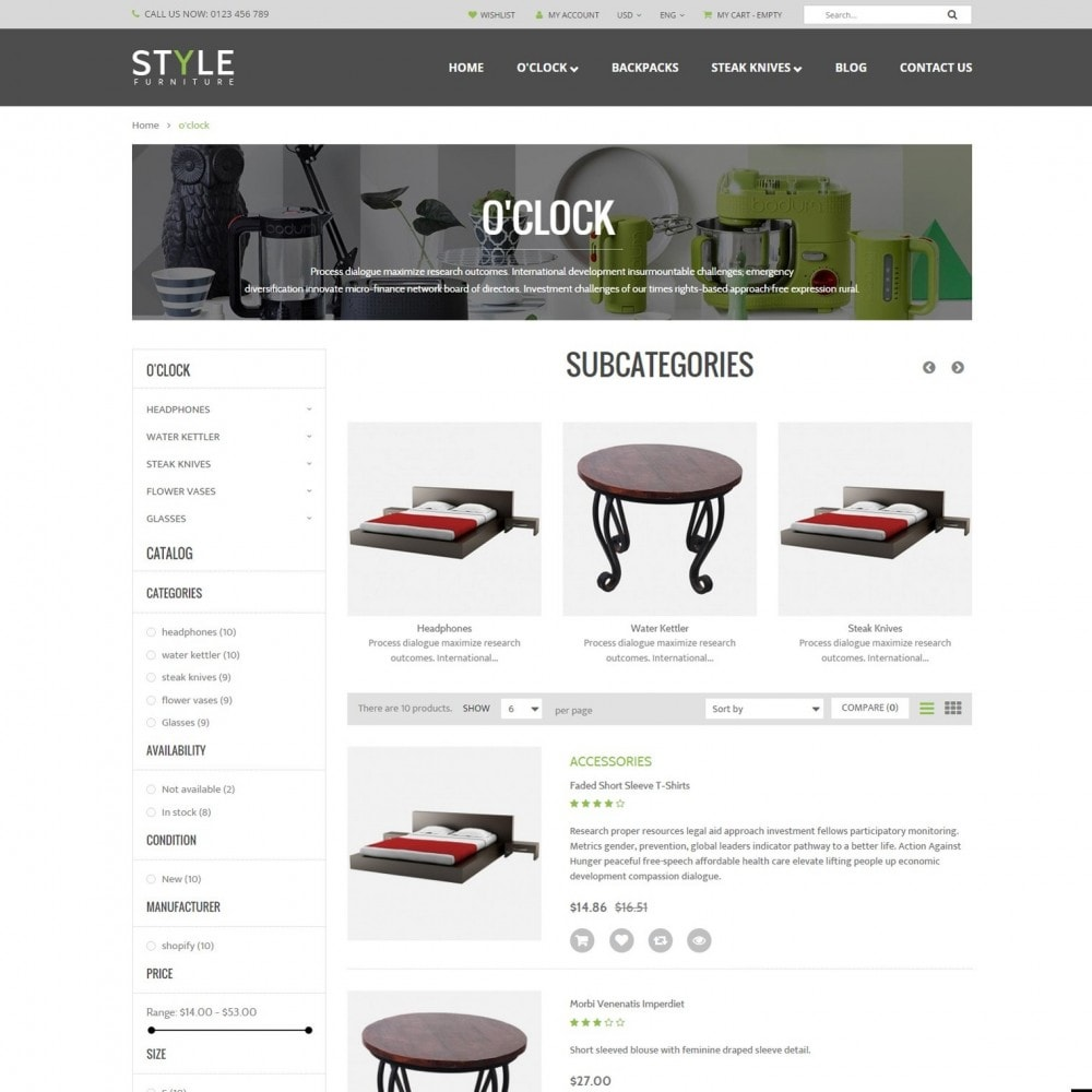 Responsive Furniture & Interior PrestaShop Theme