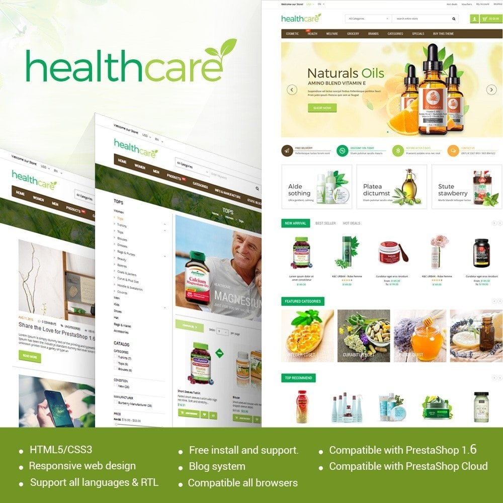 HealthCare - Bio & Medical Store Responsive PrestaShop