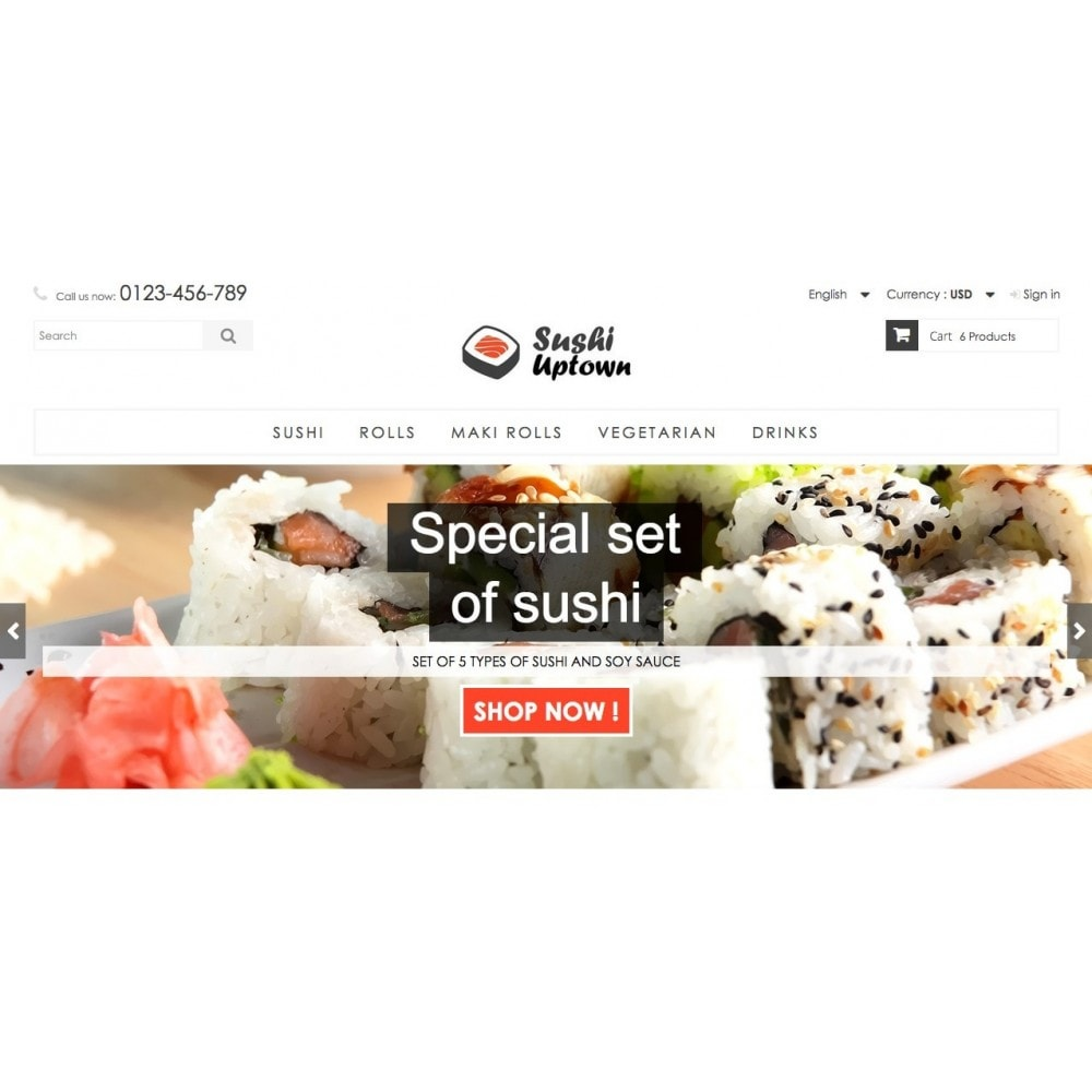Sushi Uptown 1.6 Responsive