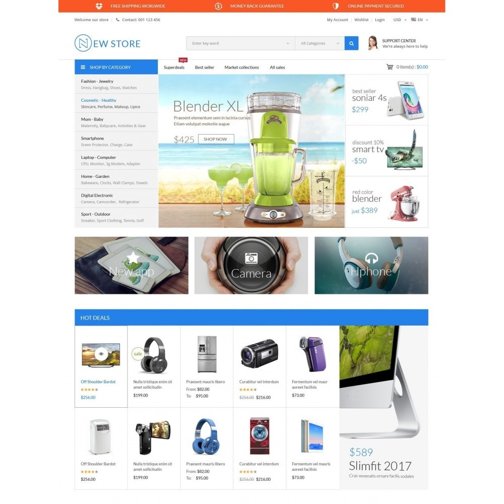 theme - Elektronik & High Tech - ExtraStore - Houseware Responsive PrestaShop Theme - 2