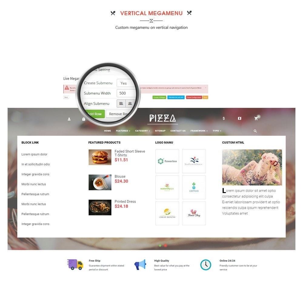 theme - Alimentation & Restauration - Leo Pizza - 6