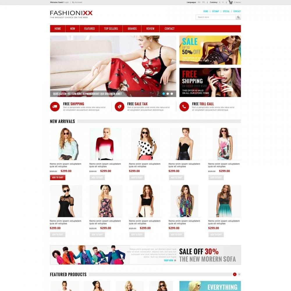 theme - Moda & Calçados - Fashion Store PrestaShop Theme - ET Fashionixx - 1