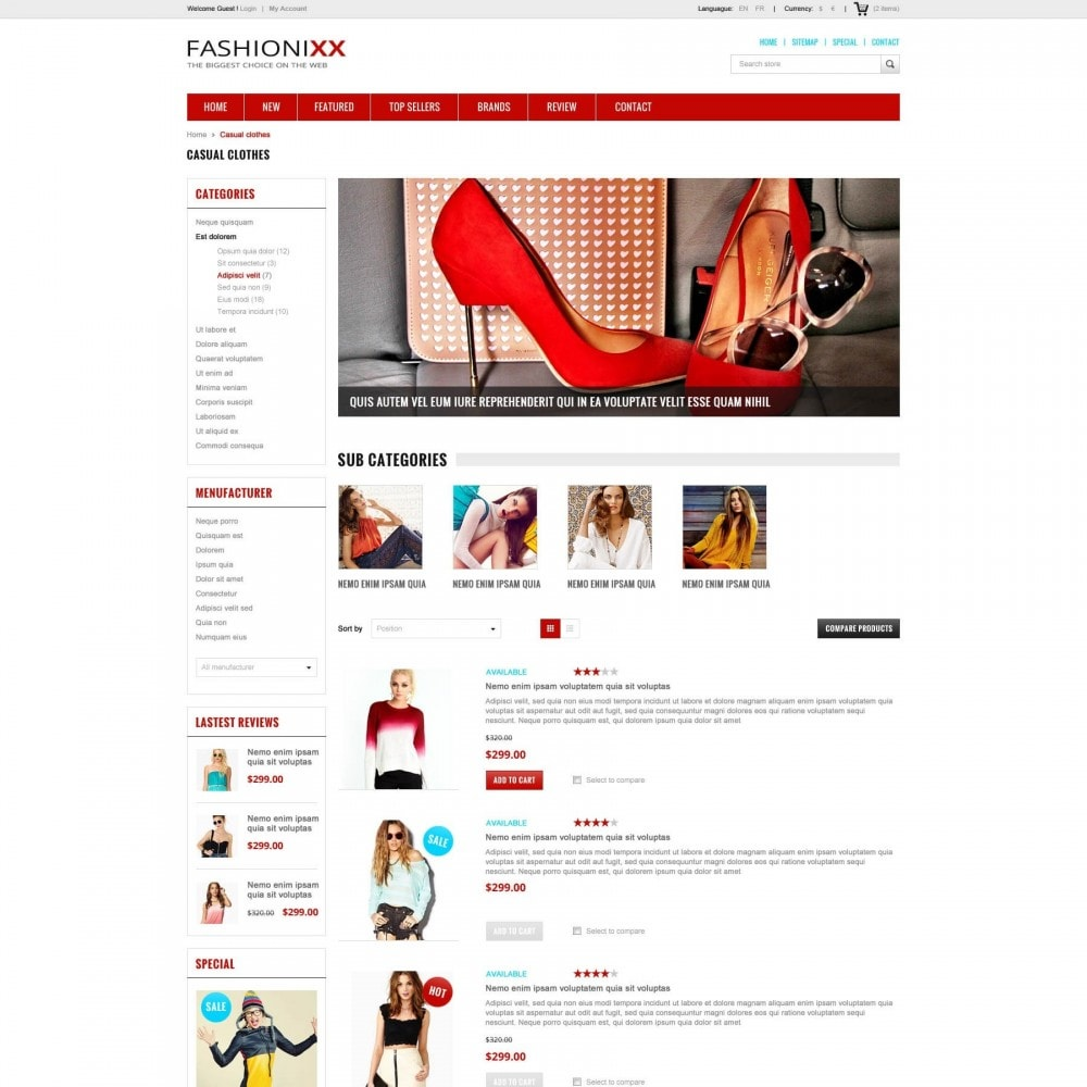 Fashion Store PrestaShop Theme - ET Fashionixx