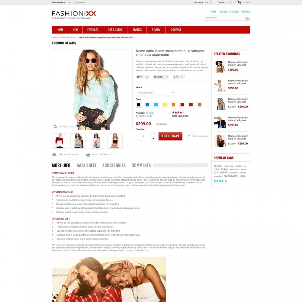 theme - Moda & Calçados - Fashion Store PrestaShop Theme - ET Fashionixx - 4