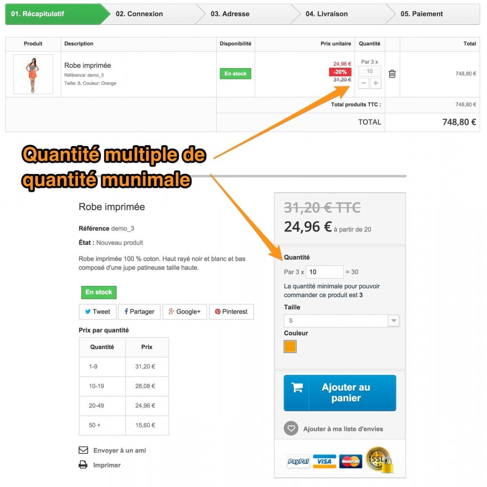 module - Bundels & Personalisierung - FO Quantity&Declinations Prices, Quantity per multiple - 4