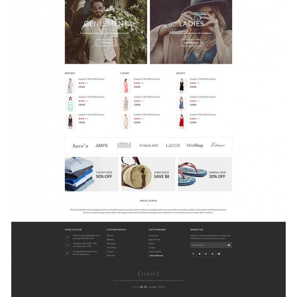 Zerok - Fashion Store PrestaShop Theme