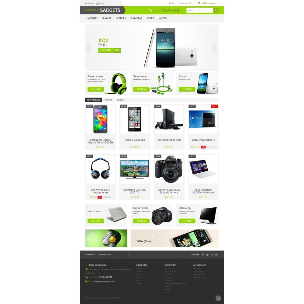 Electronic GADGETS 1.6 Responsive