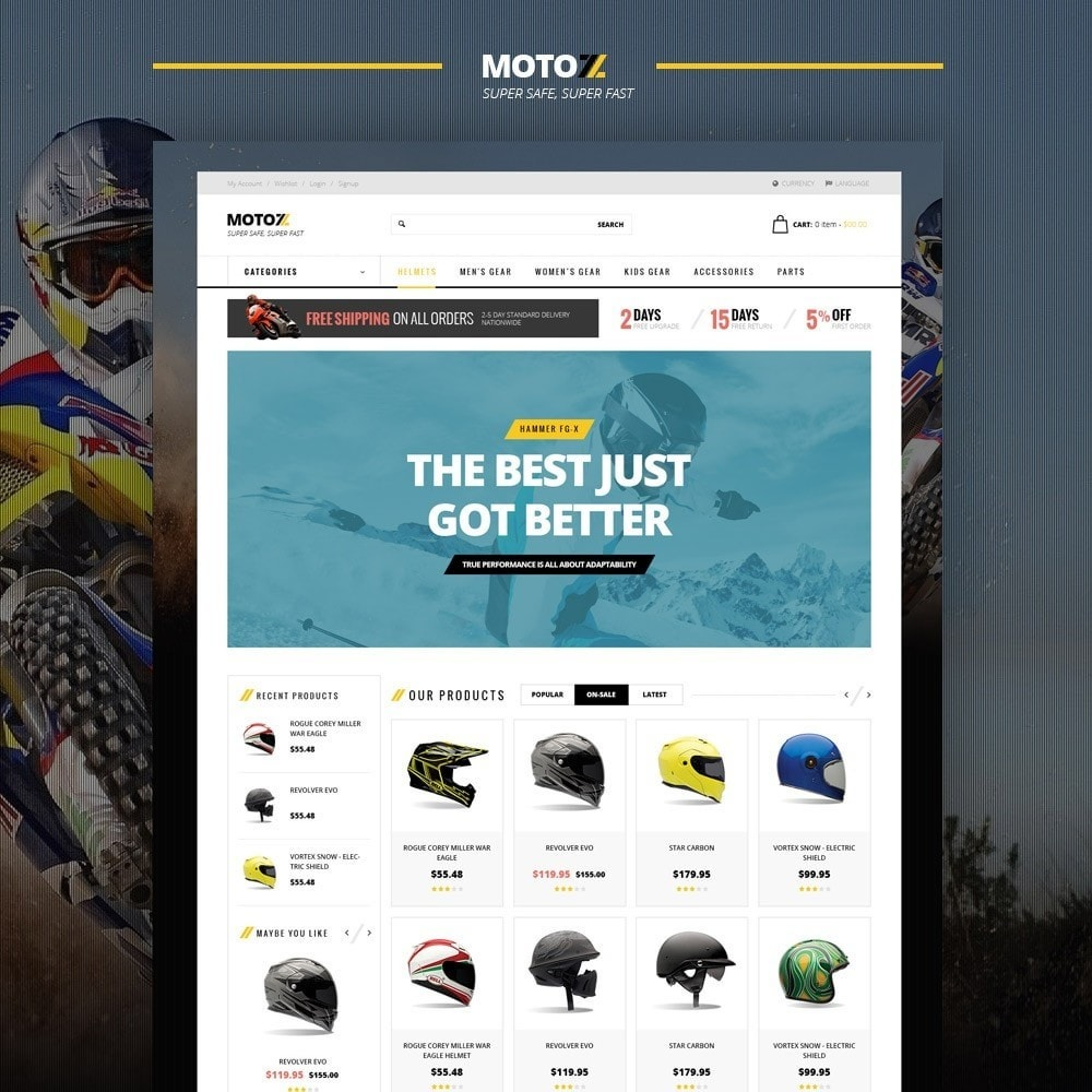 Leo Moto Prestashop 1.6 and 1.7 Theme