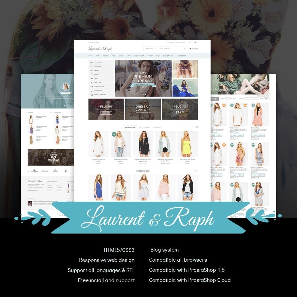 theme - Mode & Schuhe - L&R Fashion Store Responsive PrestaShop Theme - 1