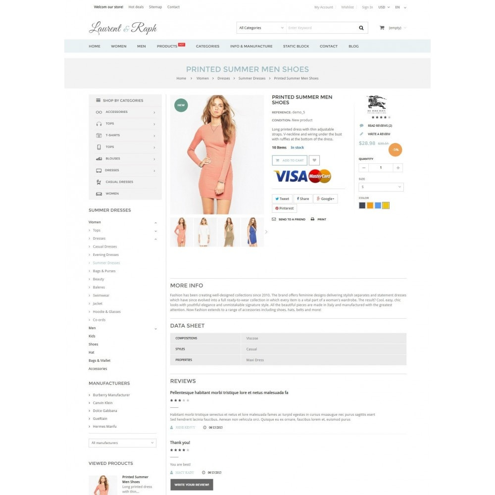 theme - Mode & Schuhe - L&R Fashion Store Responsive PrestaShop Theme - 5