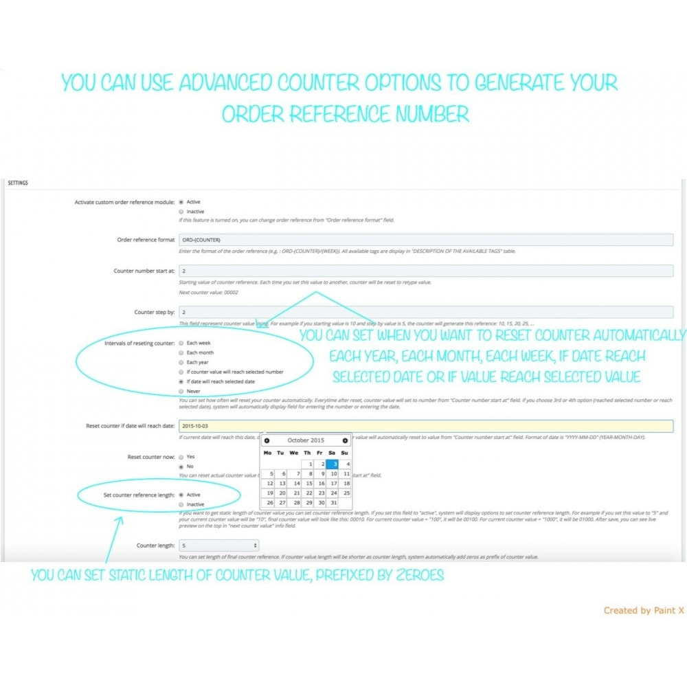 module - Orderbeheer - Advanced Custom Order Numbers, Edit Order Numbers - 5