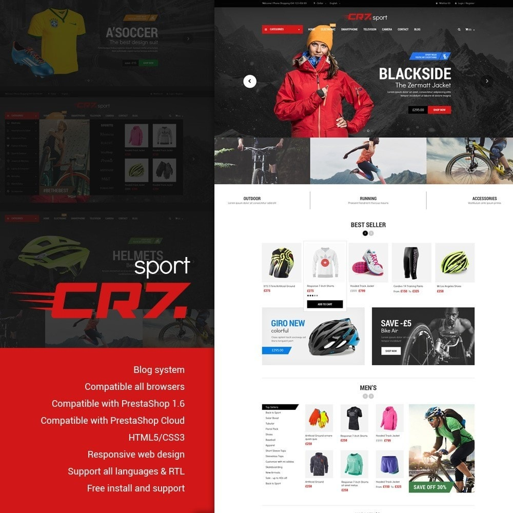theme - Desporto, Actividades & Viagens - Cr7 - Sport Store - 1