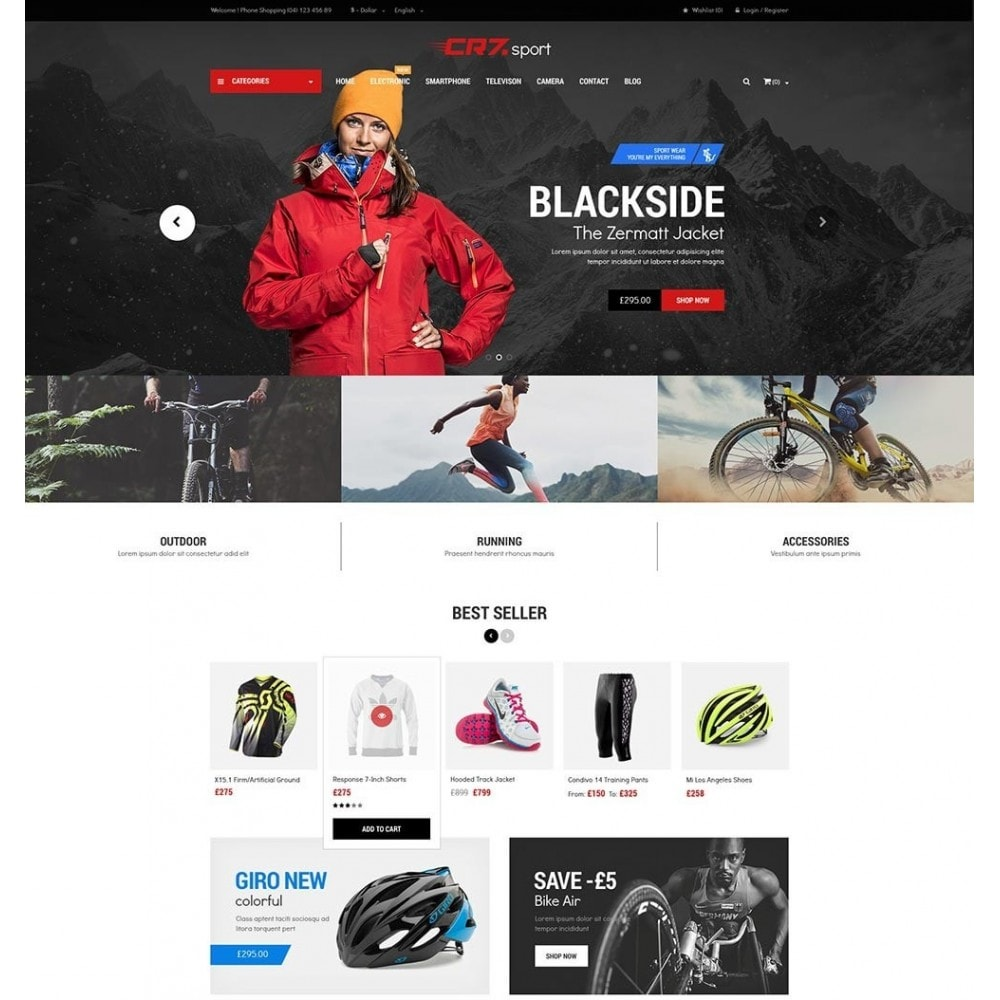 Cr7 - Sport Store PrestaShop Theme
