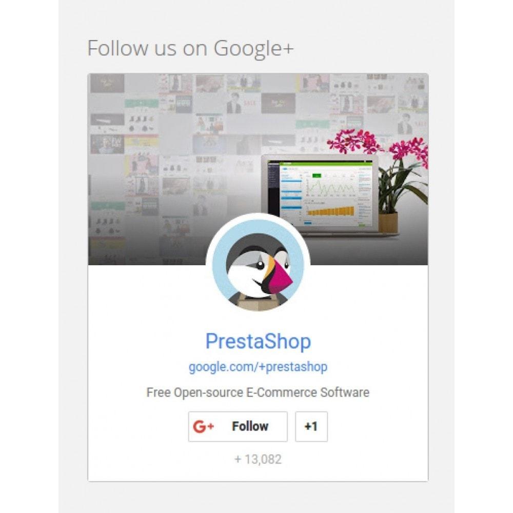 module - Compartilhamento & Comentários - Responsive Google Plus Badge - 1