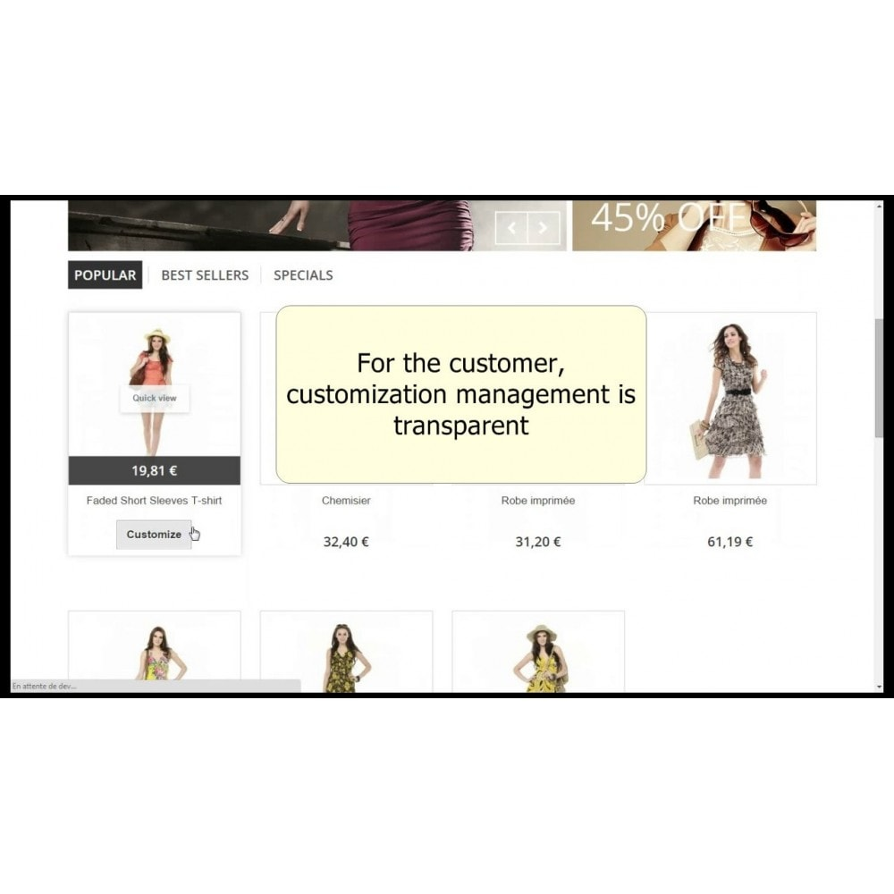 module - Combinations & Product Customization - Customizations by combination - 5